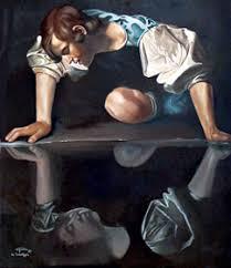 """""""Narciso"""" de Caravagio em Galeria de Arte Antiga, Roma"""
